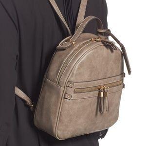 Sole Society black Zypa vegan leather back pack